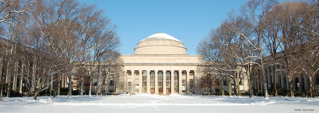The Great Dome at MIT - winter scene